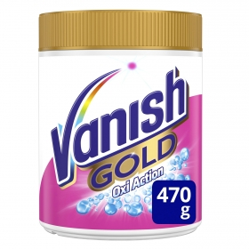 Quitamanchas y blanqueador en polvo Gold Vanish OxiAction 470 g.