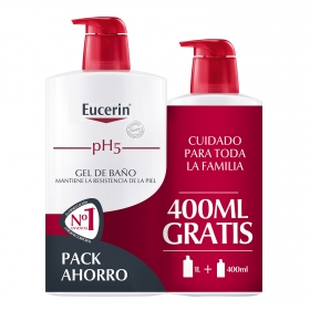 Gel de baño ph5 para pieles sensibles Eucerin 1l.