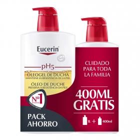 Oleogel de ducha ph5 para piel seca Eucerin 1l.