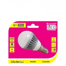 Bombilla LED Smd Aluminio Esférica 5w Luz Cálida