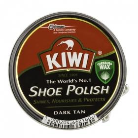 Crema para calzado color Marrón oscuro Kiwi 50 ml.