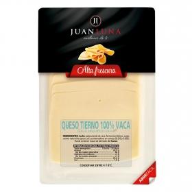 Queso tierno de vaca en lonchas Juan Luna 200 g.