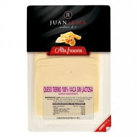 Queso tierno de vaca en lonchaa Juan Luna sin lactosa 200 g.