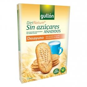 Galletas con cereales integrales sin azúcares añadidos Diet Nature Gullón 216 g.
