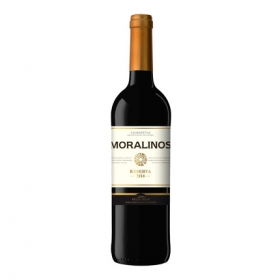 Vino D.O. Valdepeñas tinto reserva Moralinos 75 cl.