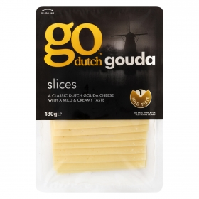 Queso gouda en lonchas Go Dutch 180 g.