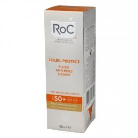 Fluido antiarrugas Soleil Protect FP 50 Roc 50 ml.