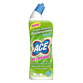 Gel desincrustante WC sin lejía Ace 700 ml.
