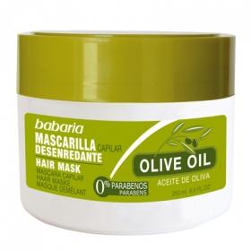 Mascarilla capilar desenredante con aceite de oliva