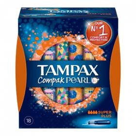 Tampones Compak Pearl super plus Tampax 18 ud.