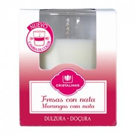 Vela perfumada bicolor fresas con nata Cristalinas 1 ud.