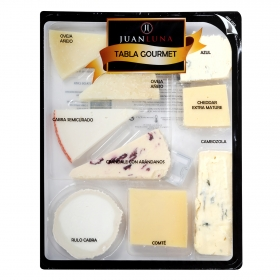 Tabla de queso gran selección gourmet Juan Luna 300 g