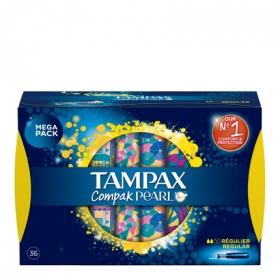 Tampones Compak Pearl regular Tampax 36 ud.