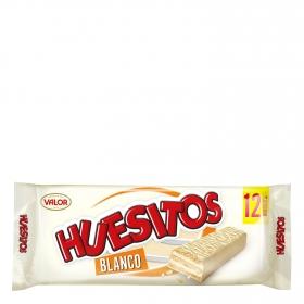 Barrita de barquillo cubierta de chocolate blanco Huesitos Valor 12 ud.