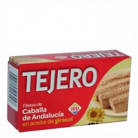 Filetes de caballa de Andalucía en aceite de girasol Tejero 80 g.