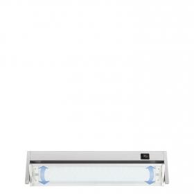 Regleta LED con Interruptor 8W Plata