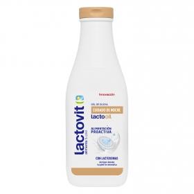 Gel cremoso enriquecido con aceites y calcio Lactooil Lactovit 600 ml.