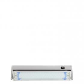 Mini Regleta 60 LED 5W Orientable con Interruptor Plata