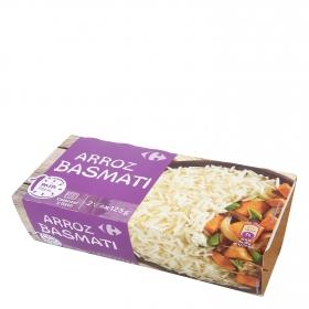 Arroz basmati para microondas Carrefour pack de 2 ud. de 125 g.