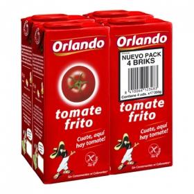 Tomate frito Orlando sin gluten pack de 4 briks de 350 g.
