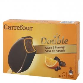 Bombón helado salsa de naranja Double Carrefour 4 ud.