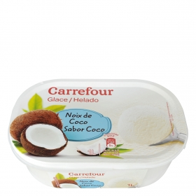 Helado de coco Carrefour 1000 ml.