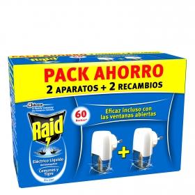 Insecticida eléctrico líquido antimosquitos 30 noches (aparato + recambio)