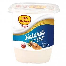 Yogur con azúcar de caña natural Reina sin gluten 500 g.