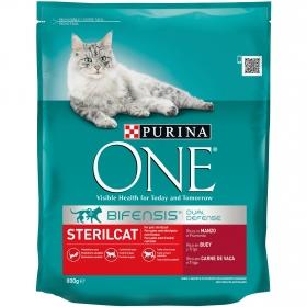 Purina ONE Bifensis Pienso para Gatos Esterilizados Buey y Trigo 800g