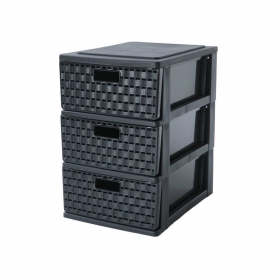 Torre de ordenación  de Plástico 25,5 x 18 x 28,5 cm  Negro