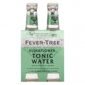 Tónica Fever Tree Elderflower pack de 4 botellas de 20 cl.