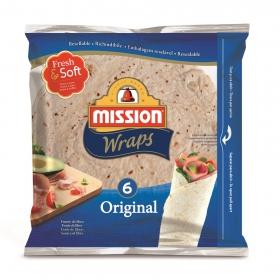 Tortillas de trigo original Mission 6 ud.
