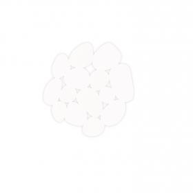 Antideslizante de ducha modelo piedras 13cm Blanco