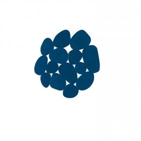 Antideslizante de ducha modelo piedras 13cm Azul