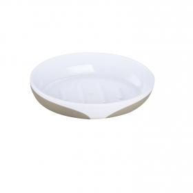 Jabonera de baño de la gama Kandy 9,5cm topo