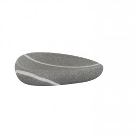 Jabonera de baño de la gama Zen 10cm  Gris