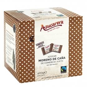 Azúcar moreno de caña integral en sobres Azucarera 50 unidades de 8 g.
