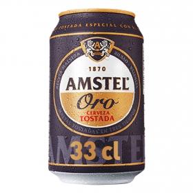 Cerveza Amstel Oro tostada lata 33 cl.