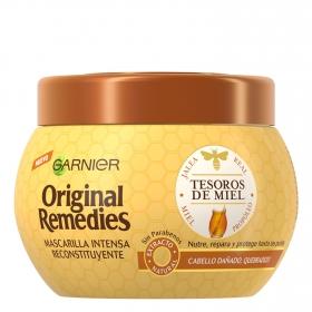 Mascarilla capilar reconstitución intensa Tesoros de Miel Original Remedies 300 ml.