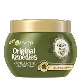 Mascarilla capilar nutrición extrema con aceite de oliva virgen Original Remedies 300 ml.