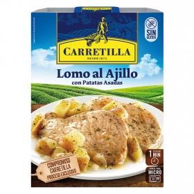 Lomo al ajillo con patatas asadas Carretilla 250 g.