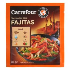 Sazonador para fajitas Carrefour 30 g.