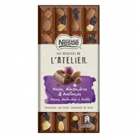 Chocolate con leche con pasas, almendras y avellanas Nestlé 195 g.