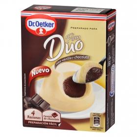 Flan duo sabor vainilla y chocolate