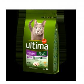 Ultima Pienso para Gato Esterilizado Adulto Sabor pollo 1,5kg.