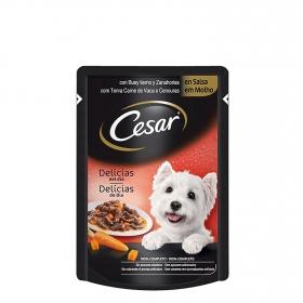 Alimento Húmedo para Perros Cesar Buey y Zanahoria 100 gr