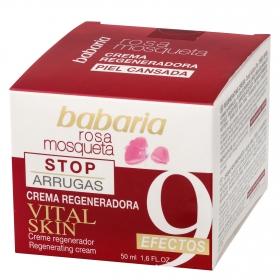 Crema regeneradora 9 efectos rosa mosqueta Babaria 50 ml.