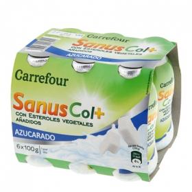 Yogur líquido Sanuscol natural azucarado