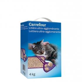 Arena Aglomerante para Gatos 4 Kg, Carrefour