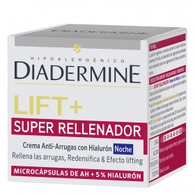 Crema de noche anti-arrugas Lift + Super Rellenador Diadermine 50 ml.